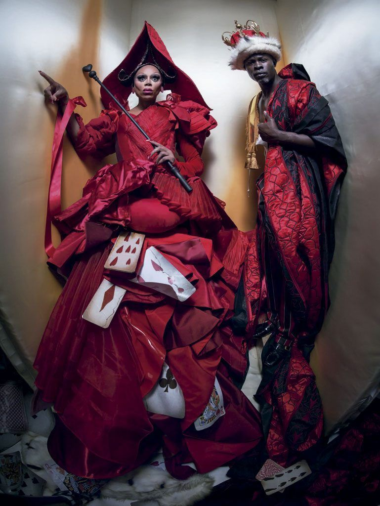 24 QUEEN AND KING OF HEARTS RUPAUL AND DJIMON
